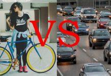 cyklista vs autá