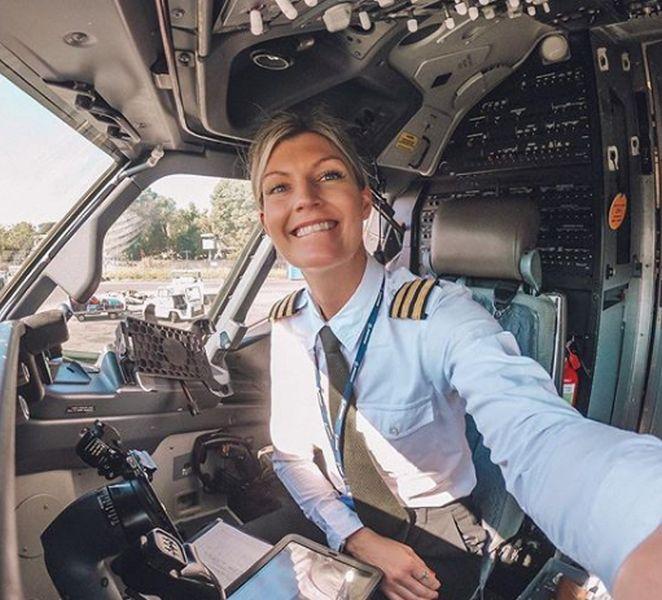 Pilotka Mária Pettersson