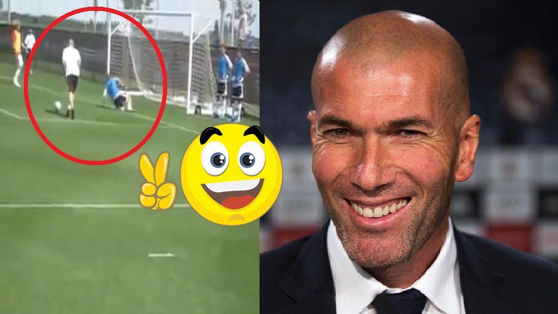 Zidane strapnil brankara